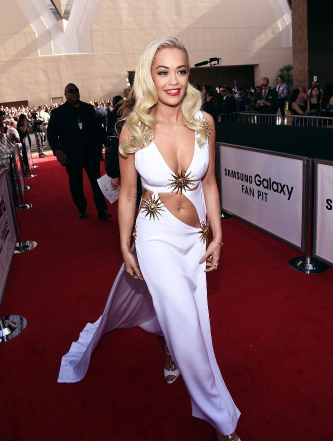 Rita Ora looks like a Greek goddess at the 2015 Billboard Music Awards .