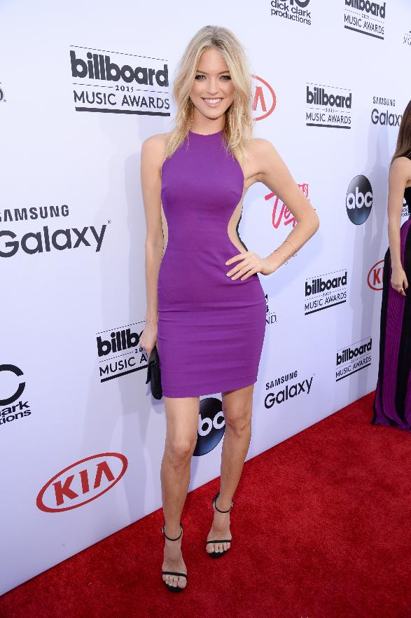 Martha Hunt attends the 2015 Billboard Music Awards.