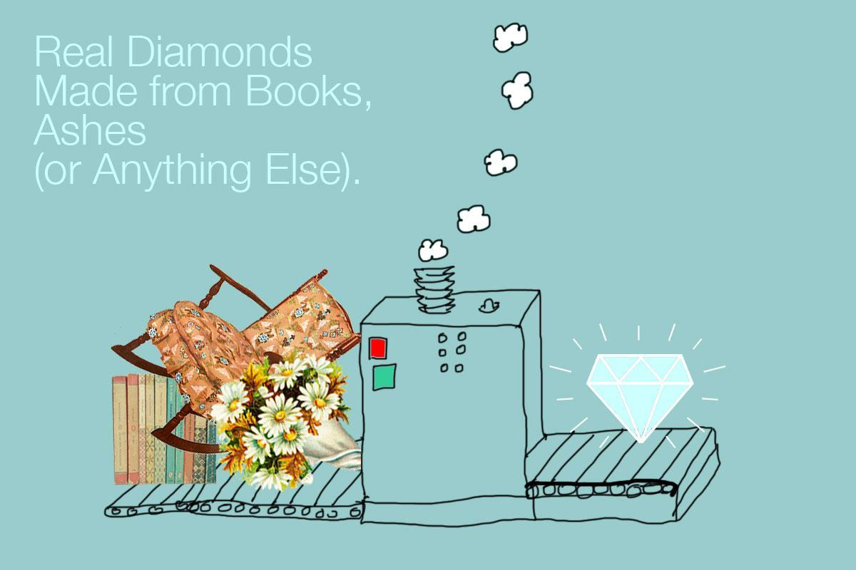 real diamonds made from books ashes or anything else
