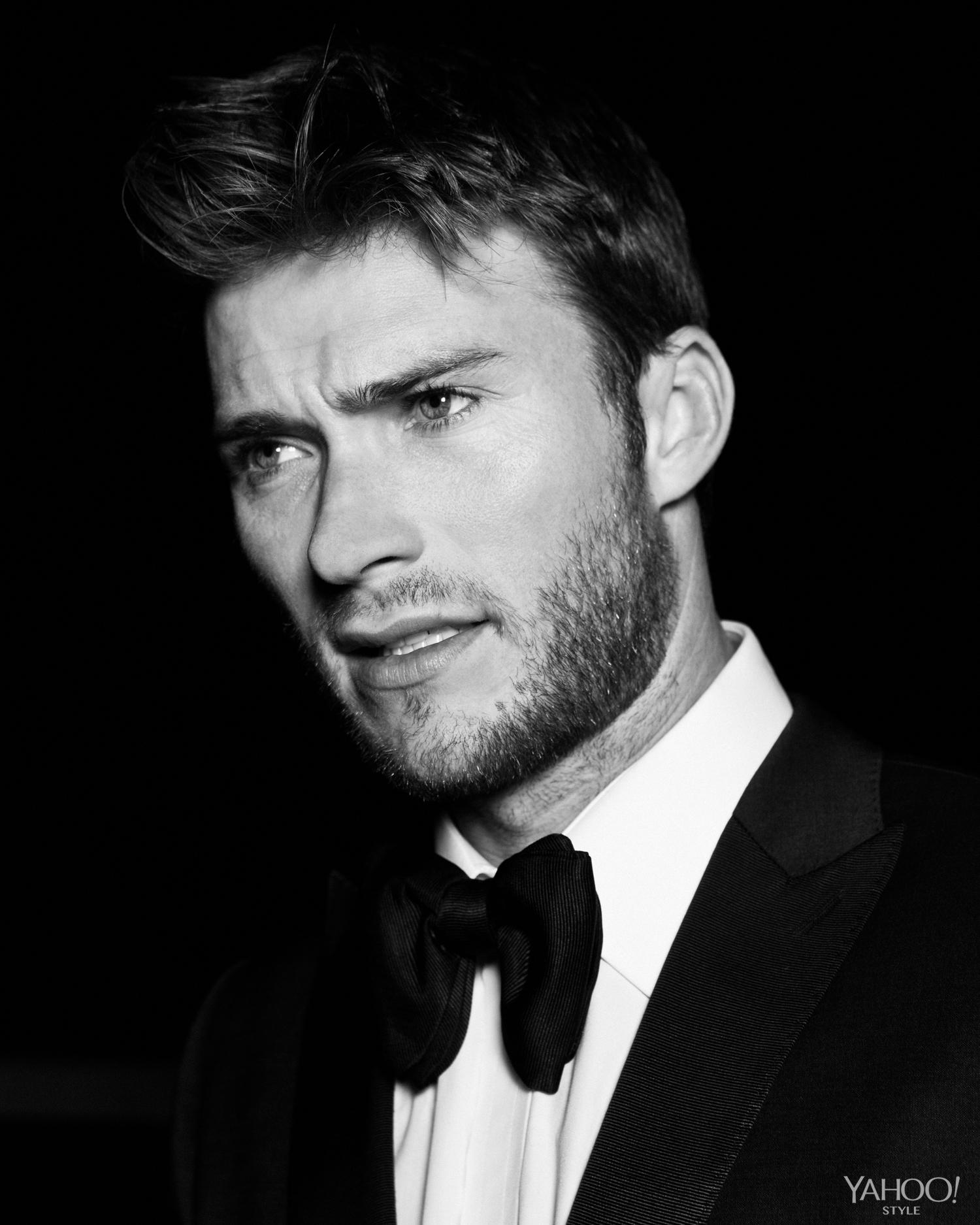 Scott Eastwood Looking Dapper In A BOSS Tuxedo And Shirt