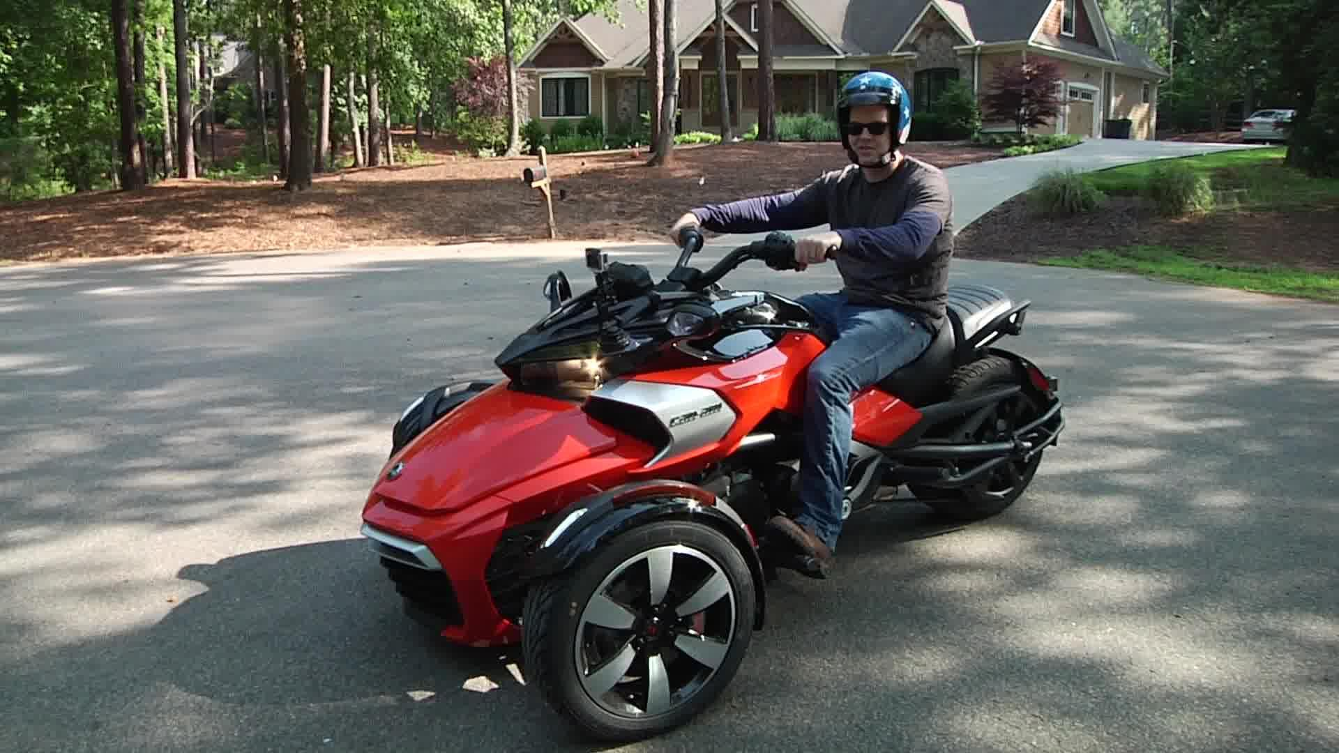 cruising on the three wheel can am spyder f3 s video. Black Bedroom Furniture Sets. Home Design Ideas
