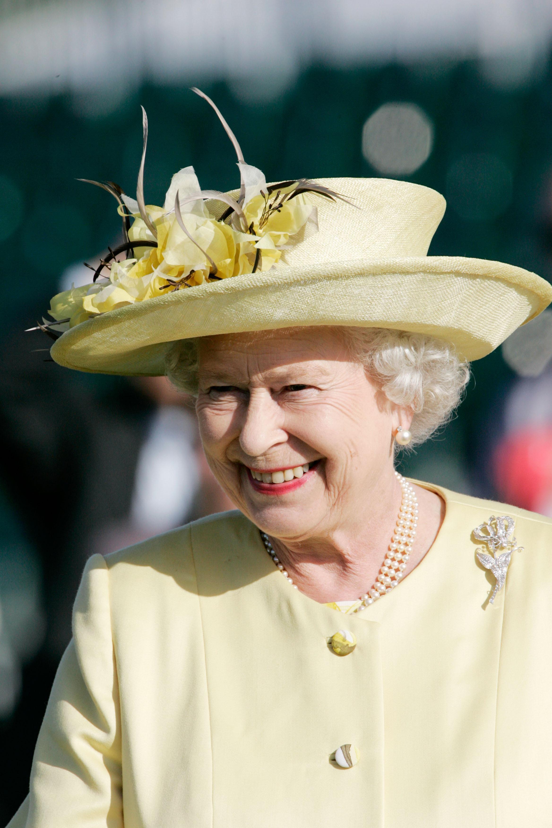 Queen Elizabeth Ii Wears A Yellow Hat June 2007 Hats