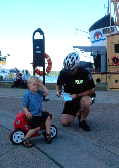 3-Year-Old Gets a Parking Ticket — and He's Thrilled