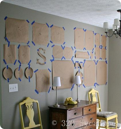 Gallery wall template how to hang a picture 39 cuz you 39 re for Wall templates for hanging pictures