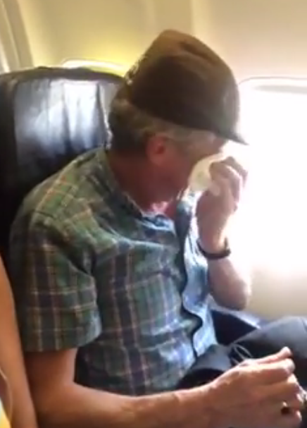 WATCH: A Man's Emotional First Flight at the Age of 57