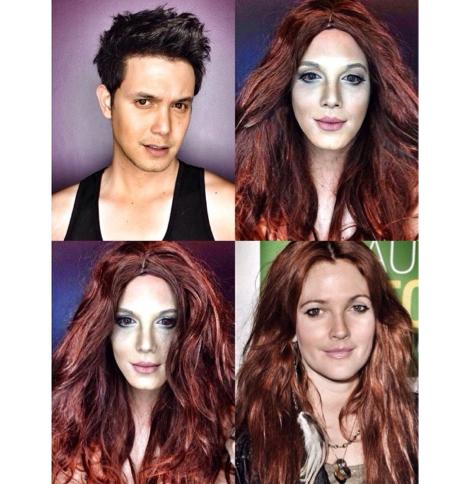 PHOTOS: Dad Transforms Himself Into Celebrities Using Makeup And Wigs 7