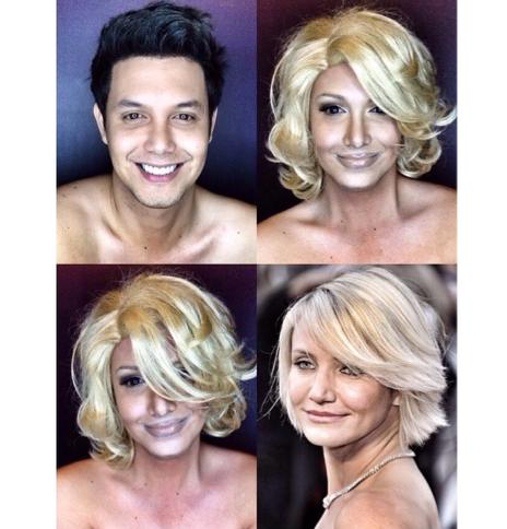 PHOTOS: Dad Transforms Himself Into Celebrities Using Makeup And Wigs 6