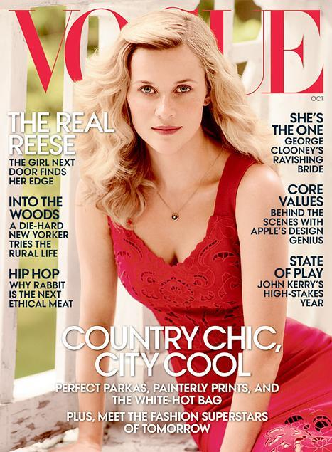 Reese Witherspoon Talks to 'Vogue' About