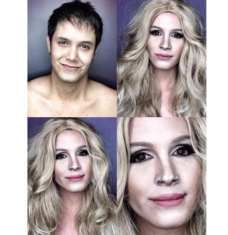 PHOTOS: Dad Transforms Himself Into Celebrities Using Makeup And Wigs 11