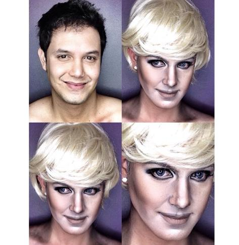PHOTOS: Dad Transforms Himself Into Celebrities Using Makeup And Wigs 10