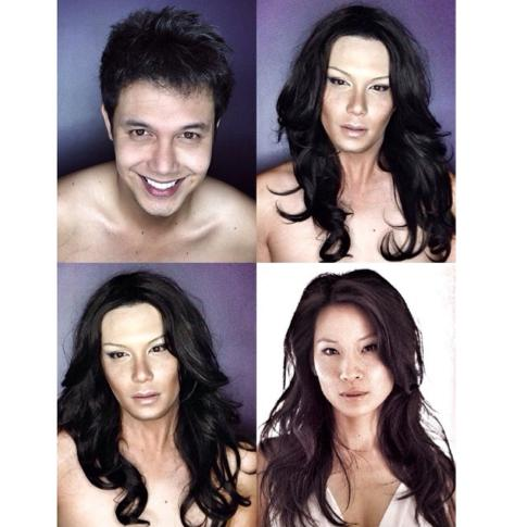 PHOTOS: Dad Transforms Himself Into Celebrities Using Makeup And Wigs 4