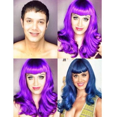 PHOTOS: Dad Transforms Himself Into Celebrities Using Makeup And Wigs 3