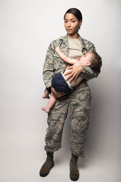 Air Force Mom Breastfeeding in Uniform Is Stunning Look at Military Parenthood