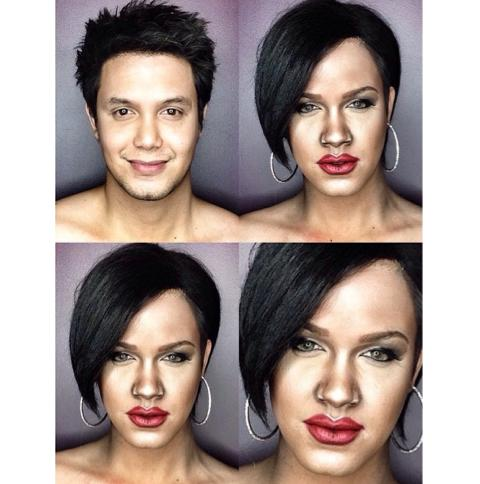 PHOTOS: Dad Transforms Himself Into Celebrities Using Makeup And Wigs 9