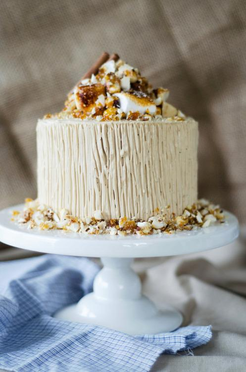Sweet Potato Cake with Toasted Marshmallow Filling