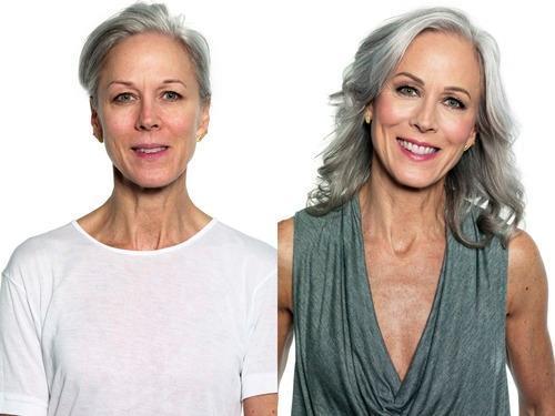 Evening Makeup for Gray Hair