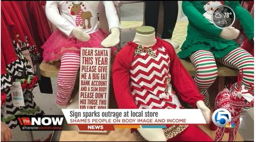 'Dear Santa' Sign Stirs Controversy