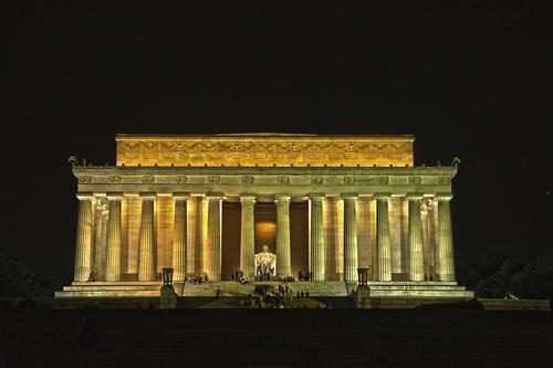 Lincoln Memorial after dark
