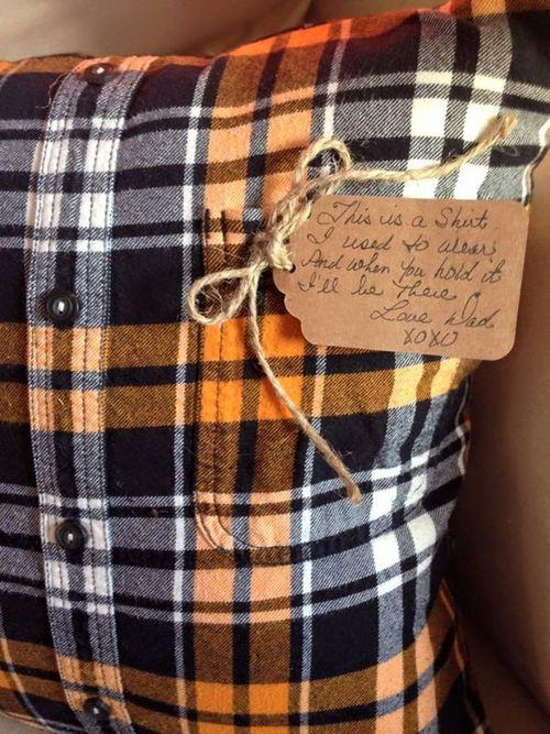 Mom Makes Pillows For Kids From Late Dad S Flannel Shirt