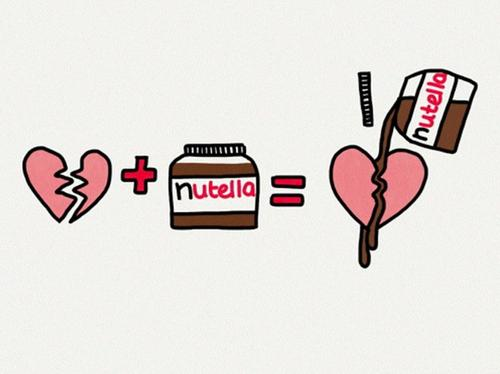 Znalezione obrazy dla zapytania i love nutella