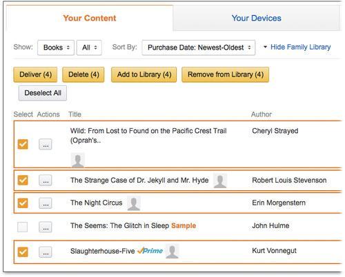 Amazon Family Library setup screen