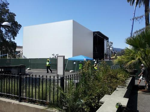 Apple Is Building a Mysterious Structure for Its iPhone 6 Event