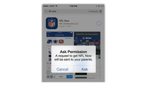 iPhone Ask Permission screen