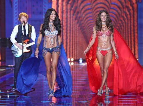 BFFs Alessandra Ambrosio & Adriana Lima Wear Matching Fantasy Bras