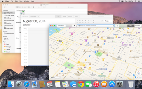 OS X Yosemite windows