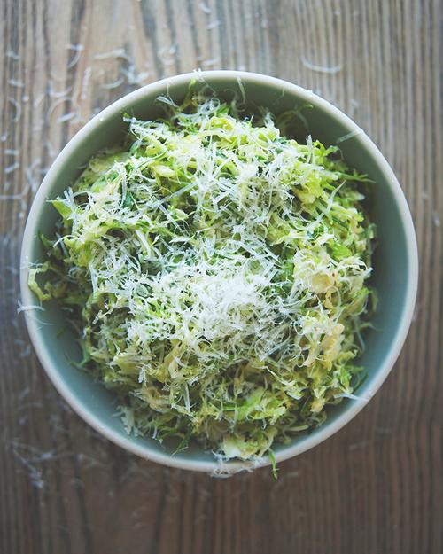 The Kitchy Kitchen's Brussels Sprouts Caesar Salad