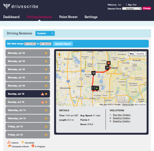 DriveScribe screenshot