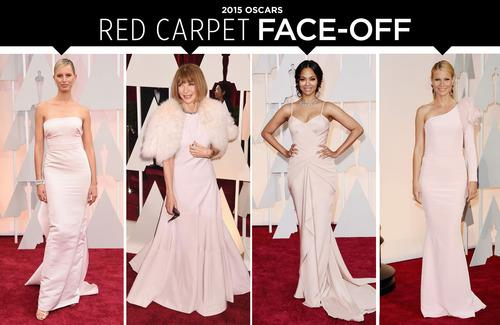 Oscars Red Carpet Face-Off: Pastel Pink on Anna Wintour, Gwyneth Paltrow & More