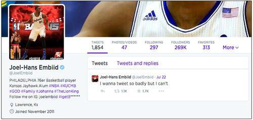 The Genius Joel Embiid and 10 More Athletes to Follow on Twitter