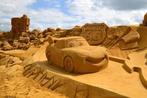 Cars in Sand