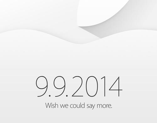 Apple Officially Hosting Event on Sept. 9; New iPhone, iWatch Expected
