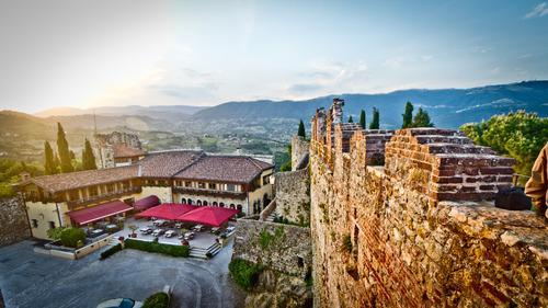 view of marostica italy