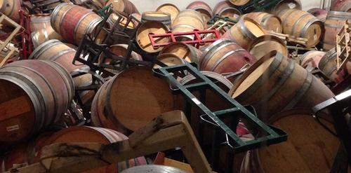 This is What it Looks Like When An Earthquake Hits Wine Country