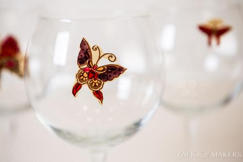Nail Polish Butterflies Add