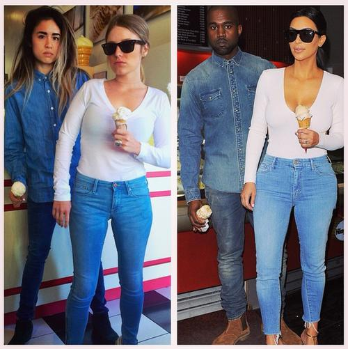 Two Girls Perfectly Recreate Kimye's Street Style Looks