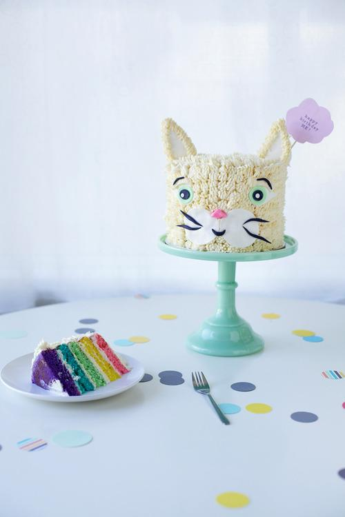 Rainbow Cat Birthday Cake