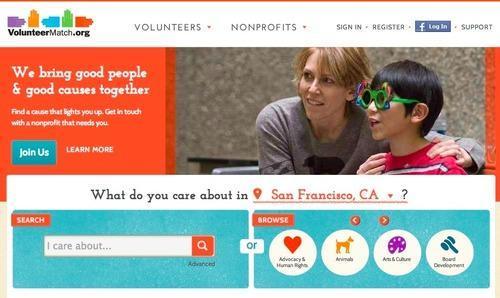 VolunteerMatch screenshot