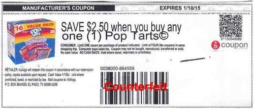 Fake coupon for Pop-Tarts
