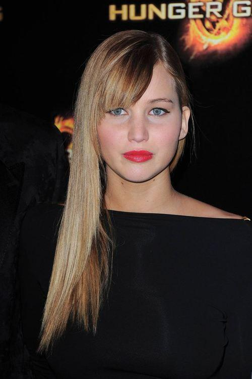 Jennifer lawrence at the paris premiere of the hunger games at gaumont