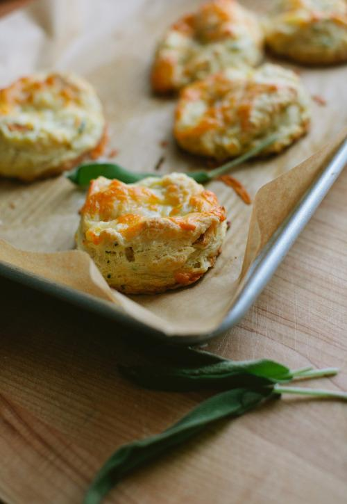 Apple, Sage, and Cheddar Biscuits From 'A Thought for Food'