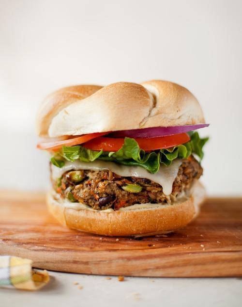 Black Bean Edamame Burger Recipe