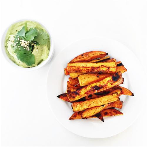 Sweet Potato Fries With Avocado Aioli