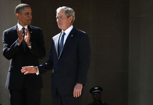 Americans hold favorable view of George W. Bush than Barrack