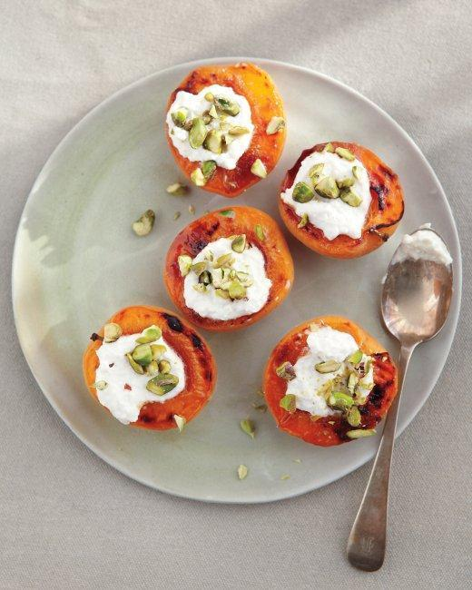 Apricots + Ricotta + Pistachios = Awesome