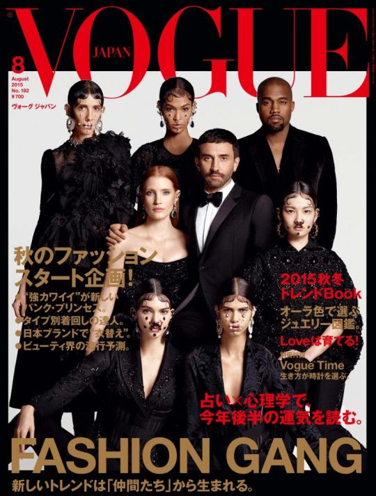 Kendall Jenner, Jessica Chastain, Kanye West & More Cover Vogue Japan With Riccardo Tisci