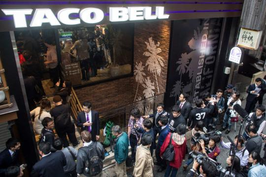 This Was the Crazy-Long Line to Get Into Tokyo's New Taco Bell
